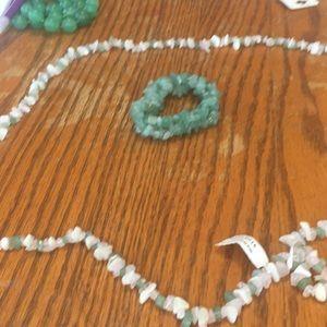 Genuine stone necklace